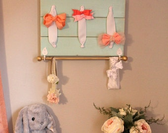 Hair Bow Holder Bow holder, Headband Holder, Bow Organizer, headband organizer, nursery decor, baby shower gift