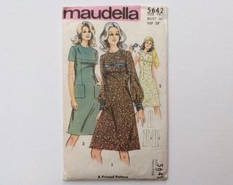 FF B36 1970s Dress Sewing Pattern : Maudella 5642