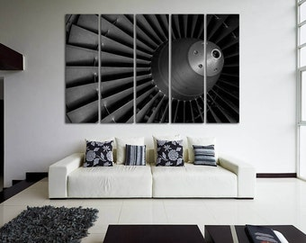 Turbine Photo Aircraft Print Plane Engine Airplane Decor Engine Canvas Aircraft Decor Jet Print Turbine Poster Aviation Wall Decor Plane