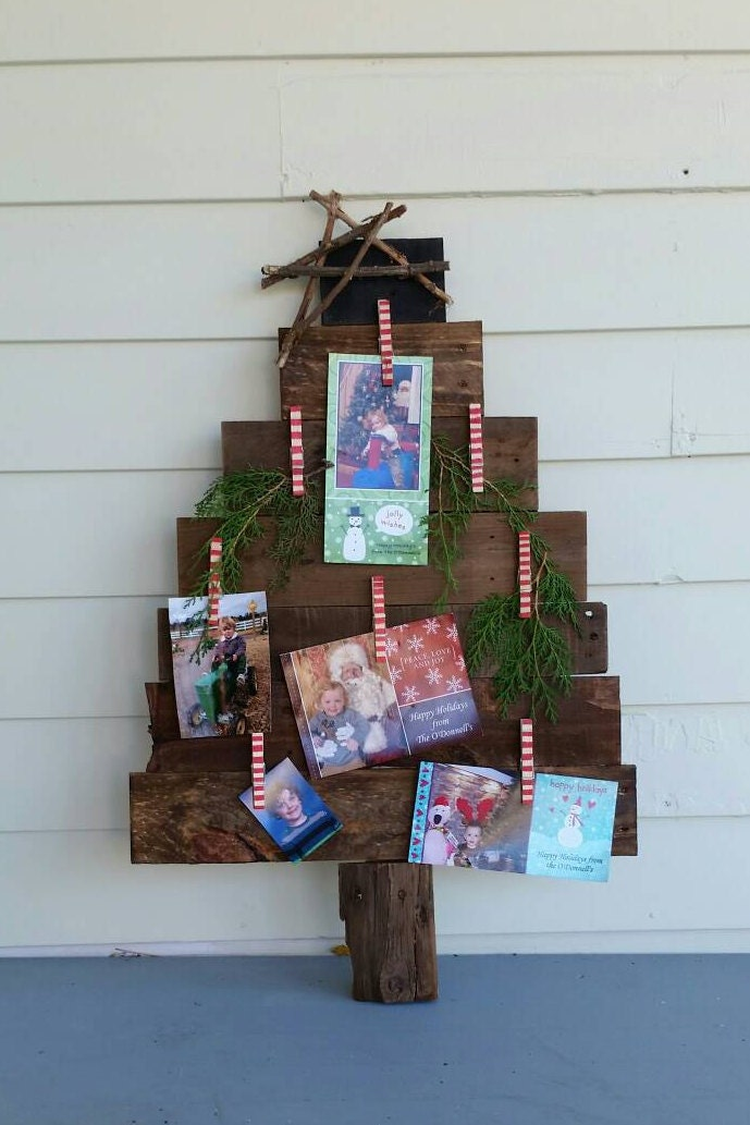 Wooden Christmas Card Holderwooden Tree