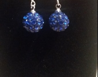 Sapphire Disco Ball Earrings
