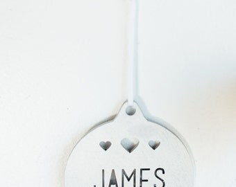 Custom Name Hearts Ornament