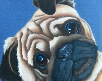 Benny the pug painting