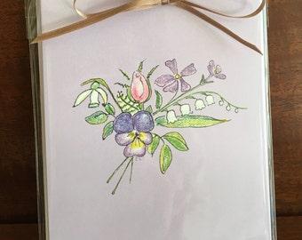 note cards:  bouquet