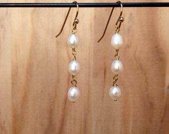 Pearl Trio Earrings