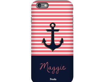 Monogram iPhone 6 Case - Anchor iPhone 7 Case- iPhone 6S Case - Cute iPhone 5S Case - iPhone 7 Case - Phone Case for Girls - iPhone 4S Cases