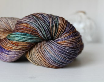 Hand Dyed Yarn Merino Wool Sock 100g - Sunset at a Stormy Sea
