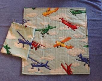 Mini airplane quilt