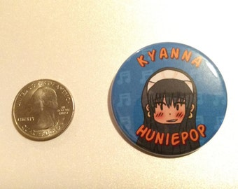 HuniePop Pinback Button - Kyanna Delrio
