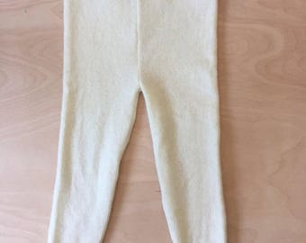 1-2 years cream merino wool leggings