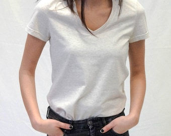 Mitchell, T-shirt, Beige
