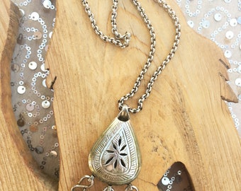 Vtg Talisman Necklace with tassels