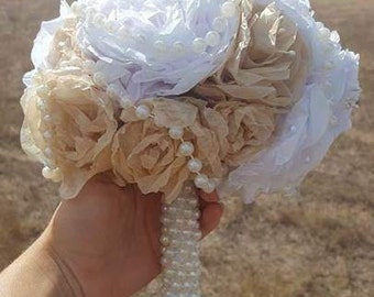 Paper Flower and Pearl Bouquet