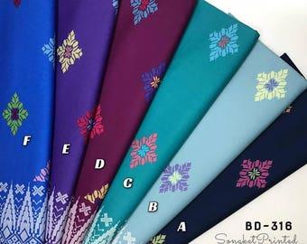 Songket Printed Dokoh Arona Cotton Fabrics (2 Meters)