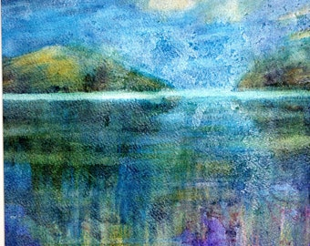 Painting Reflections Original Watercolour