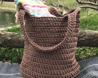 "Summer shopper or beach bag handmade from 100% cottonn rope ""Kenia"""