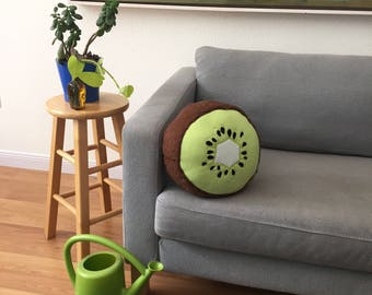 Kiwi Fruit Pillow -Tropical Citrus Summer Decor
