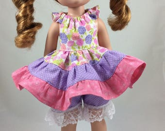 "NEW RELEASE Flutter Dress for 14 1/2"" Dolls PDF Pattern"