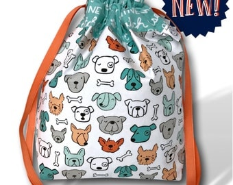 Good Dog - NEW! One Skein Project Bag for Knitting, Crochet, or Cross Stitch