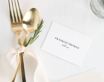 Glam Monogram Place Cards - Deposit