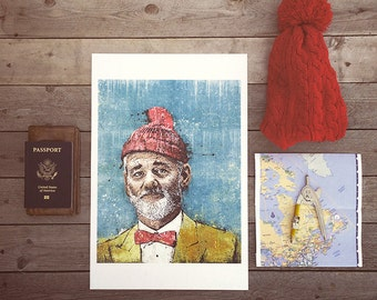"Steve Zissou's ""This Is the Life"" - 12x18 Officially Signed, Dated and Hand-Stamped Art Print"