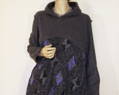 XL Grey and Purple Hoodie