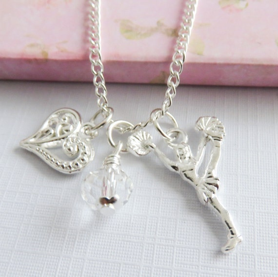 Cheer Charm Bracelets: Cheerleader Necklace Cheer Charm Necklaces Cheerleading