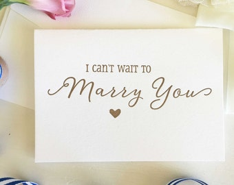 Bride To Groom Card - I Can't Wait To Marry You Card - Groom Gift From Bride - Groom To Bride Card - Wedding Cards - Groom Card - Bride Card