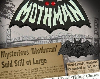 Mothman Symbol ENAMEL PIN - Cryptozoology Tracking Society