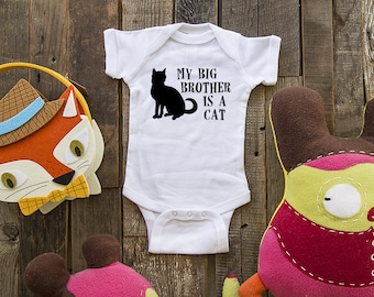 My big brother is a cat - funny saying on Infant Baby One-piece, Infant Tee, Toddler, Youth Shirt