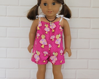 Pink Romper Doll Clothes to fit 18 inch dolls to 20 inch dolls such as American Girl & Australian Girl dolls