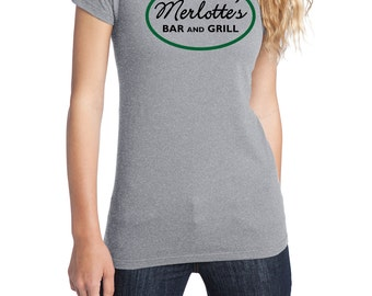 Merlotte's Bar and Grill Shirt, District Threads, Direct to Garment, Women's Shirt, True Blood Shirt, Heather Grey Shirt