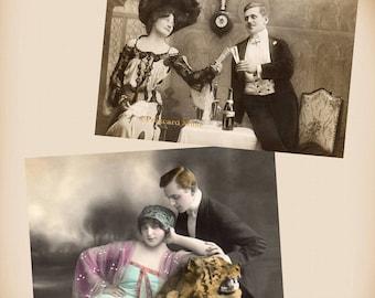 Edwardian Couple - New 4x6 Vintage Postcard Image Photo Print - CP05-08