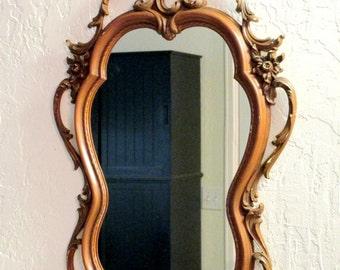Mid Century Syroco French/Italian/Rococo Style Wall Mirror