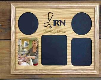 11x14 Nurse Picture Frame, RN Saving Lives, Nurse RN Thank You Gift, Registered Nurse, Nurse Gift, Laser Engraved Frame