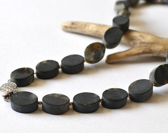 Amber Necklace, Amber Jewelry, Baltic Amber, Black Necklace, Modern Amber Jewelry