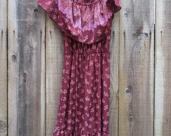Vintage Off-The-Shoulder Dress
