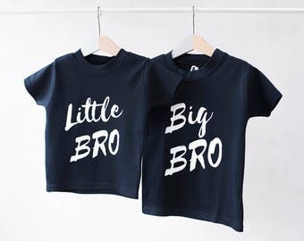 Unisex Sibling T-Shirt Set - Sibling Outfit - Big Sister Big Brother - Brother Sister Tops - Personalised Kid's T-Shirts - Custom Kid's Tops