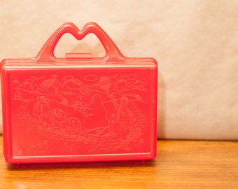 Vintage 80s McDonalds Lunch Box / Pencil Case / Happy Meal Box / Purse