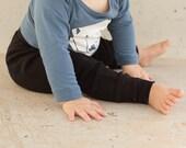 Baby Boy Clothes - Baby Girl Clothes, Organic Baby Clothes, Baby Leggings, Baby Boy Harem Pants, Baby Boy Leggings, Black Pants - Black