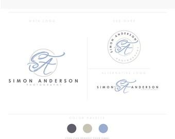 artisitc brush Emblem 1 initials letters design business cards  simple modern feminine branding logo Identity artist makeup photographer