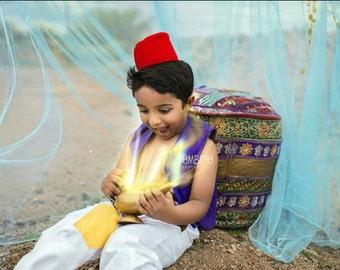 Aladdin  costume (3pc set) - Birthday Party- Disney Cruise -Outfit- Disney Costume- Jasmine Costume- Aladdin Outfit- disney Outfit 12M to 7Y