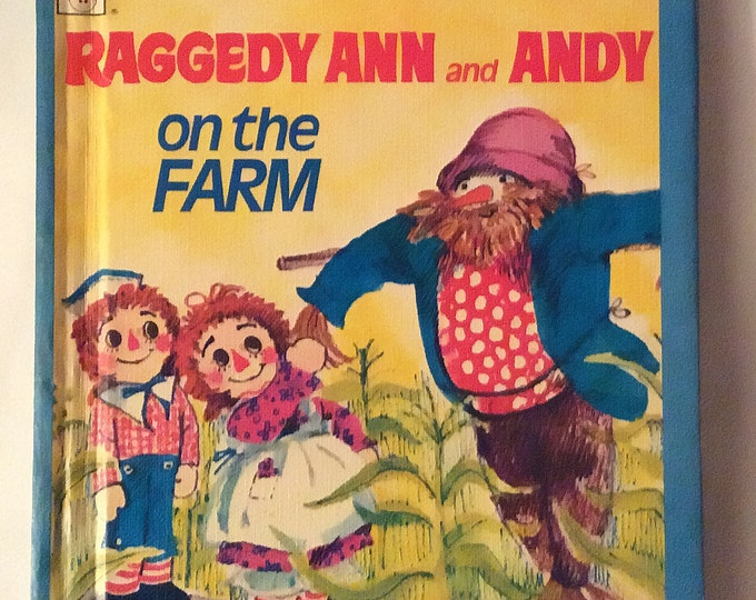Raggedy Ann and Andy on the Farm Tell-A-Tale-Reader VINTAGE 1975 Library Binding
