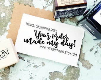 Custom Stamp Small Business- Thank You for Your Business- Thanks for Supporting Small Business- Etsy Shop Self-Inking- CS 10308