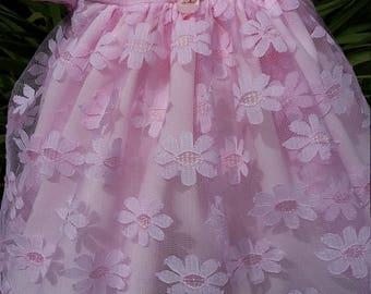 Pink Daisy Lace Baby Dress
