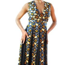 Super Sale ImbieCM mesh African Print dress