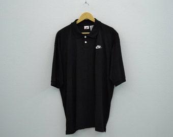 Nike Shirt Vintage Nike Casual Shirt 90s Nike Vintage Polo Shirt Mens Size M