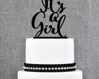 Baby Shower Cake Topper, Gender Reveal Topper, It's A Girl Cake Topper, Cute Cake Topper, Charming Cake Topper, (T333)