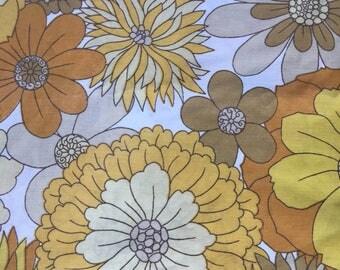 Vintage St Michael Yellow Floral Double Duvet Cover