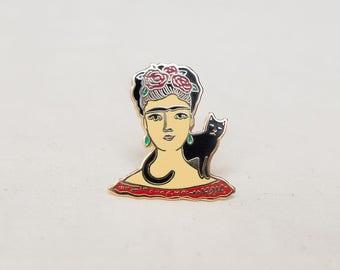 Frida Kahlo Enamel Pin - Lapel Pin - Badge